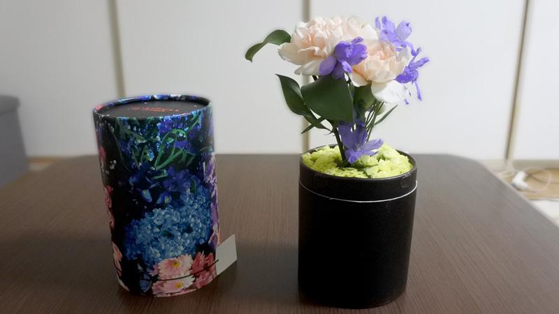 花瓶不要でそのまま飾れる
